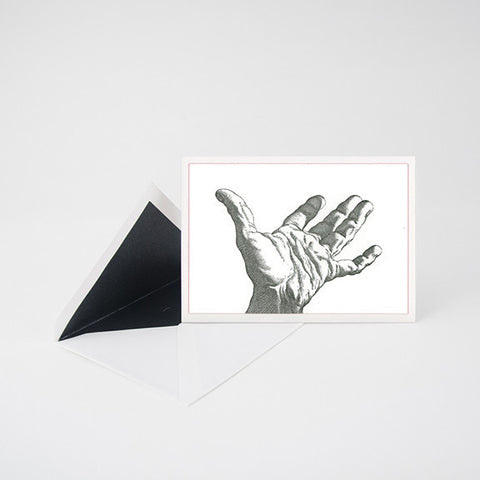 """HAND"" LETTERPRESS BLANK NOTE CARD"