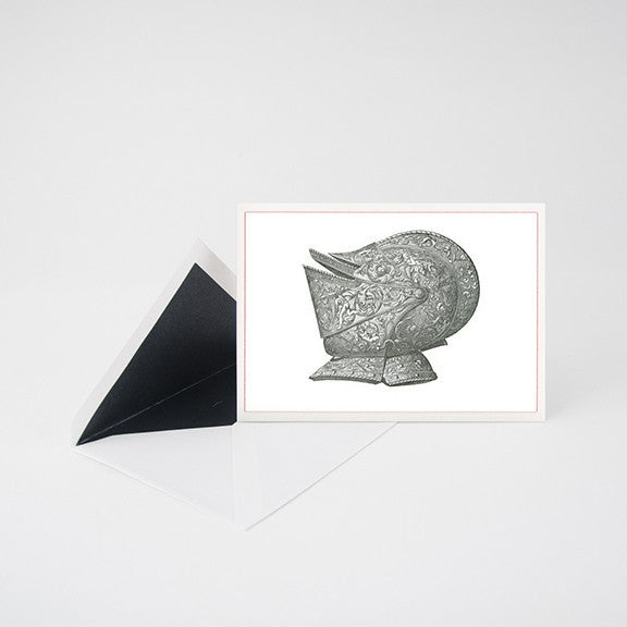 """HELMET"" LETTERPRESS BLANK NOTE CARD"