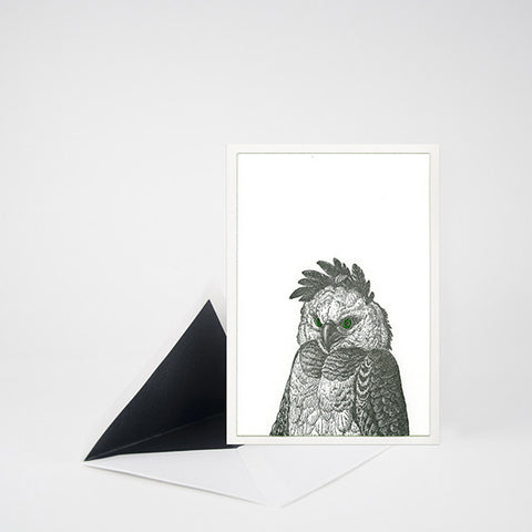 """HOOT"" OWL LETTERPRESS BLANK NOTE CARD"