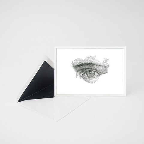 """LOOK""  EYE LETTERPRESS BLANK NOTE CARD"
