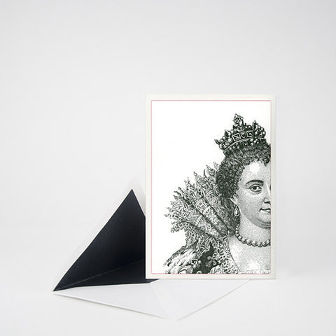 """QUEEN MEDICI"" LETTERPRESS BLANK NOTE CARD"