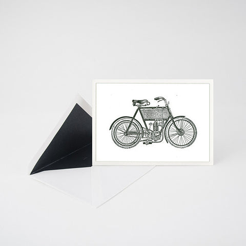 """MOTORBIKE"" LETTERPRESS BLANK NOTE CARD"