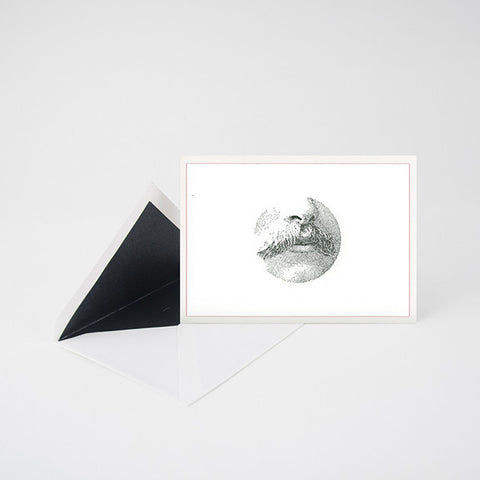 """MUSTACHE"" LETTERPRESS BLANK NOTE CARD"