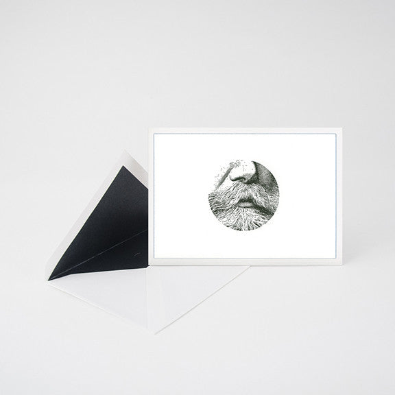 """MUSTACHE 2"" LETTERPRESS BLANK NOTE CARD"
