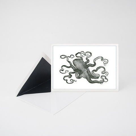 """OCTOPUS"" LETTERPRESS BLANK NOTE CARD"