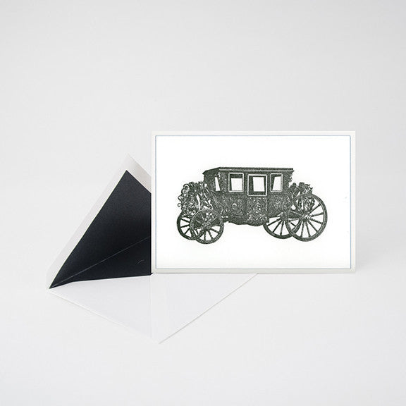 """ROYAL COACH"" LETTERPRESS BLANK NOTE CARD"