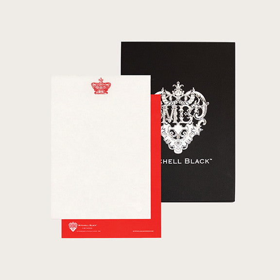 """CROWN ENGLAND"" LETTERPRESS STATIONERY"