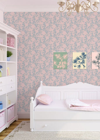 Fairy Forest - Baby Pink Wallpaper - MB BABY