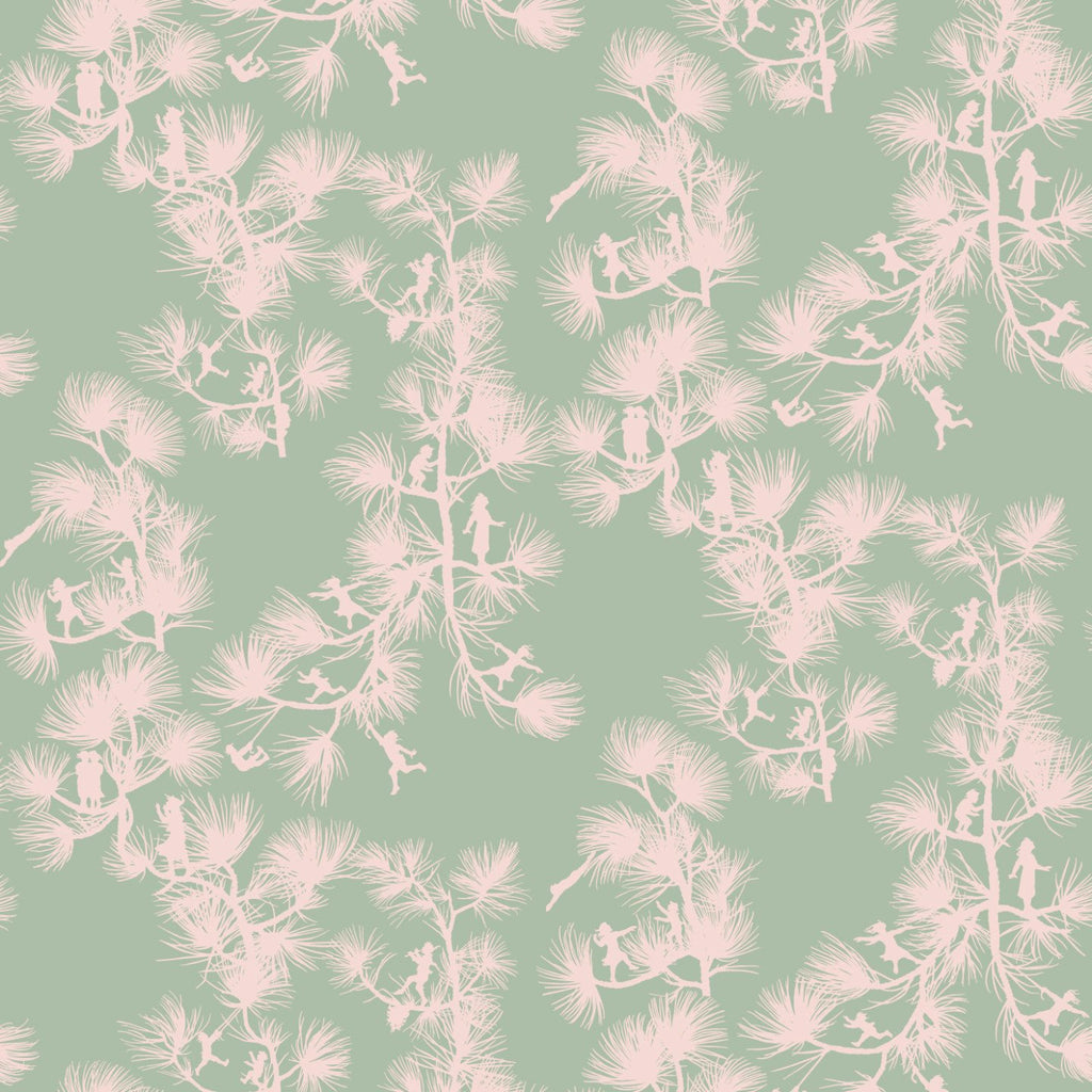 LUCKY Fairy Forest - Celadon Wallpaper - MB BABY