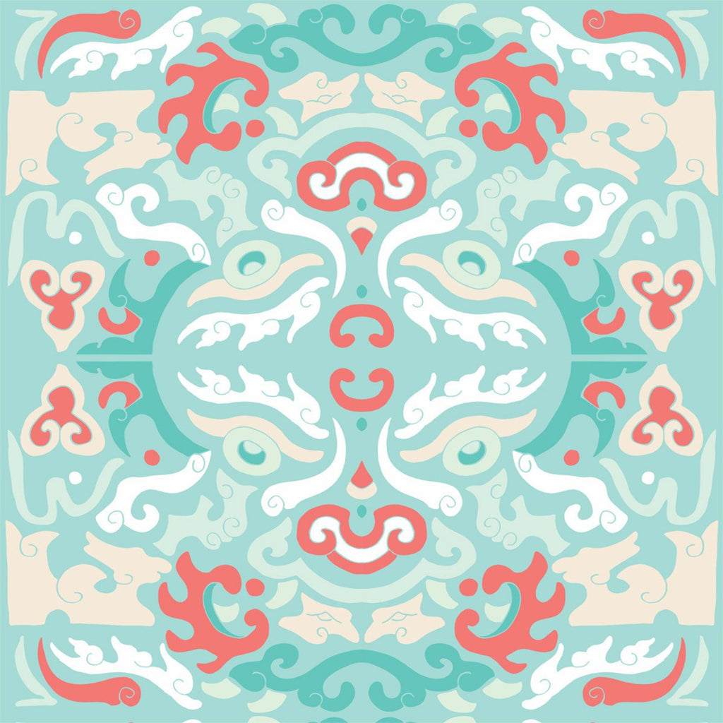 LUCKY Foo You Looking At - Coral Reef Peel & Stick Wallpaper - JULIANNE TAYLOR STYLE