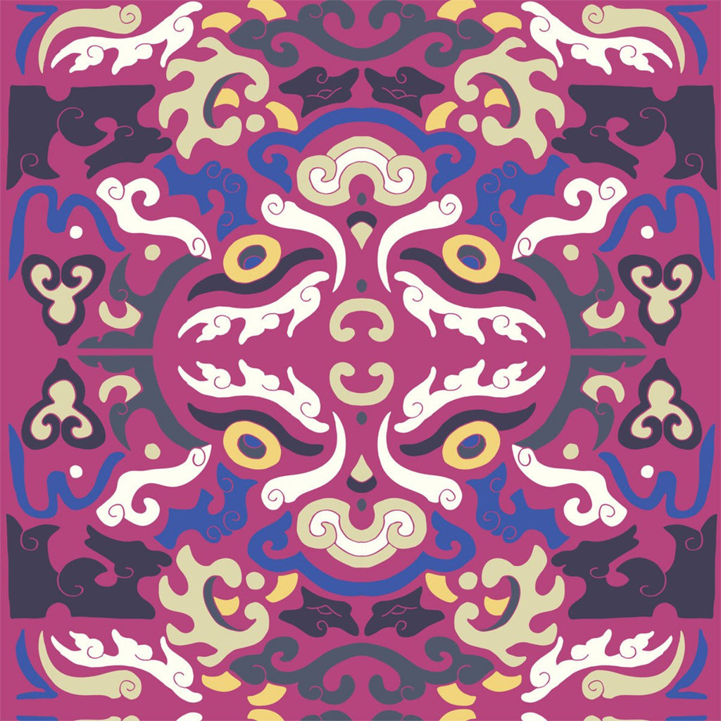 Foo You Looking At - Magenta Wallpaper - JULIANNE TAYLOR STYLE