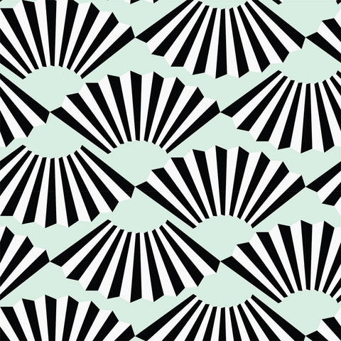 Fanning Out - Mint Wallpaper - JULIANNE TAYLOR STYLE
