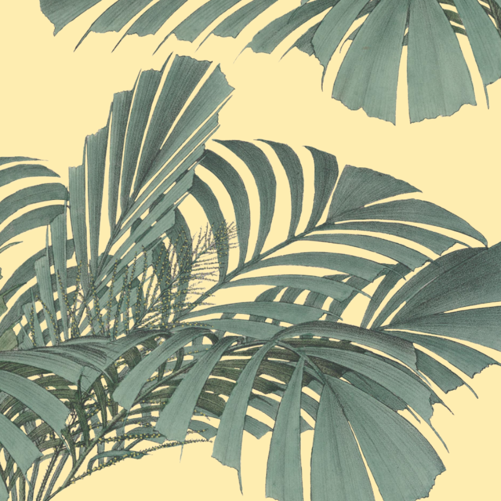 LUCKY Floating Palms - Yellow Wallpaper - MB SIGNATURE