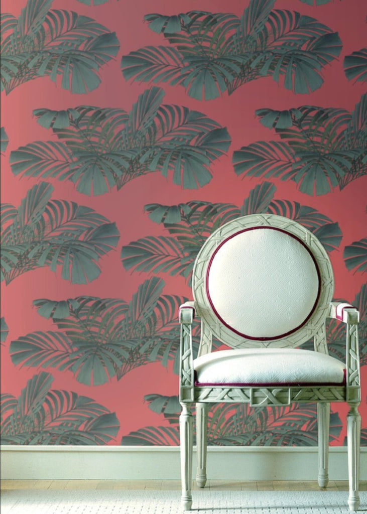 Floating Palms - Coral Wallpaper - MB SIGNATURE
