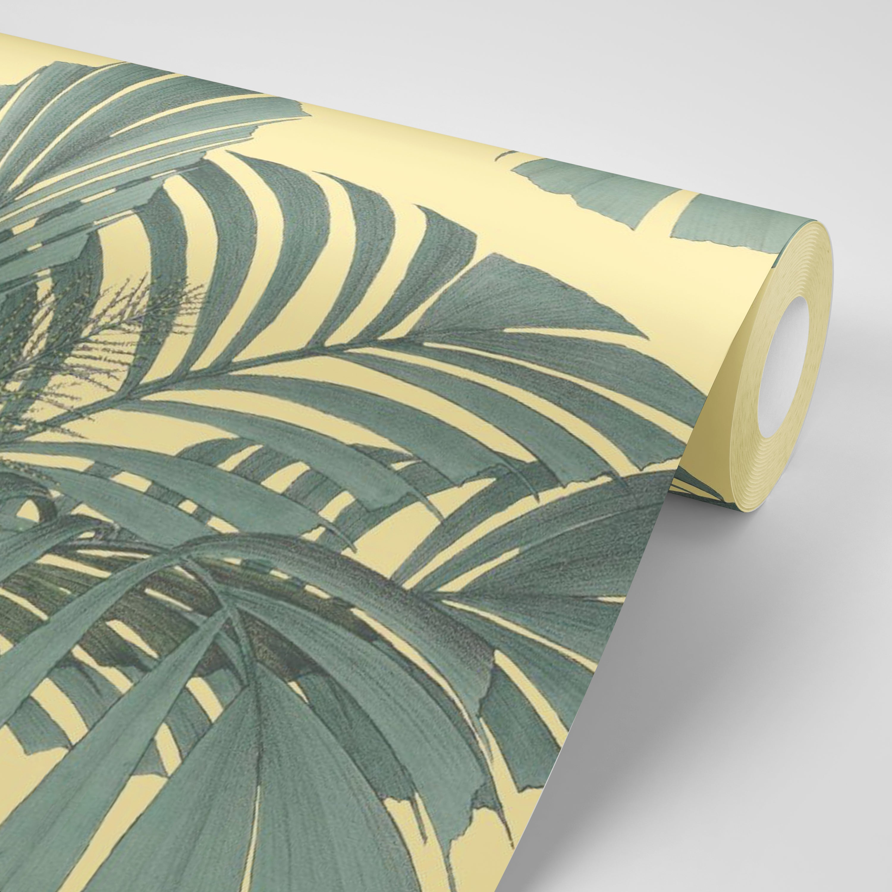 Floating Palms - Yellow Wallpaper - MB SIGNATURE