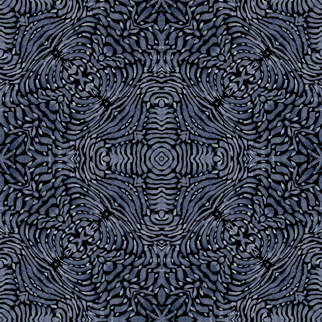 LUCKY Flora Spiral - Blue Wallpaper  - ABRA 2.018 Collection