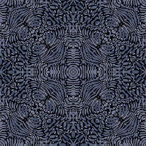 Flora Spiral - Blue Wallpaper  - ABRA 2.018 Collection