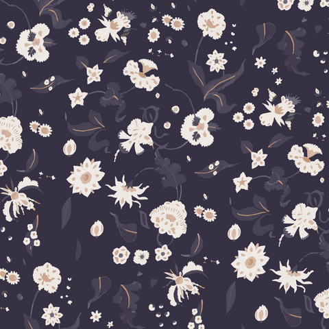 Floral Bliss - Currant Wallpaper - Nomad Collection