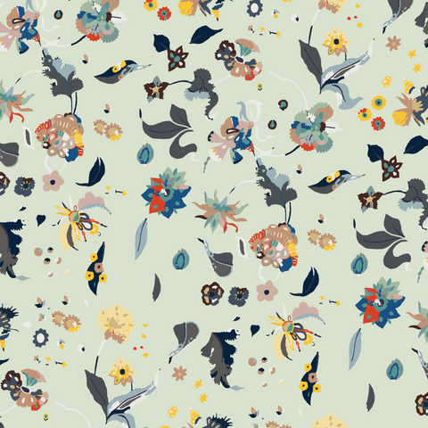 LUCKY Floral Bliss - Mixed Peel & Stick Wallpaper - Nomad Collection