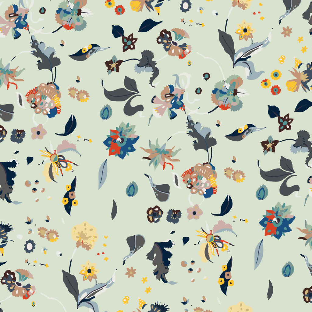 LUCKY Floral Bliss - Mixed Wallpaper - Nomad Collection