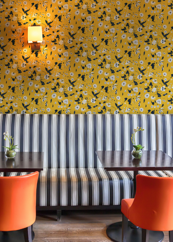 Floral Bliss - Saffron Wallpaper - Nomad Collection