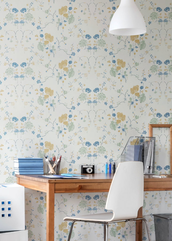 Floral Lace - Natural Cotton Wallpaper - Nomad Collection