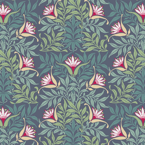 LUCKY Flowervine - Blue/Green Wallpaper - MB SIGNATURE
