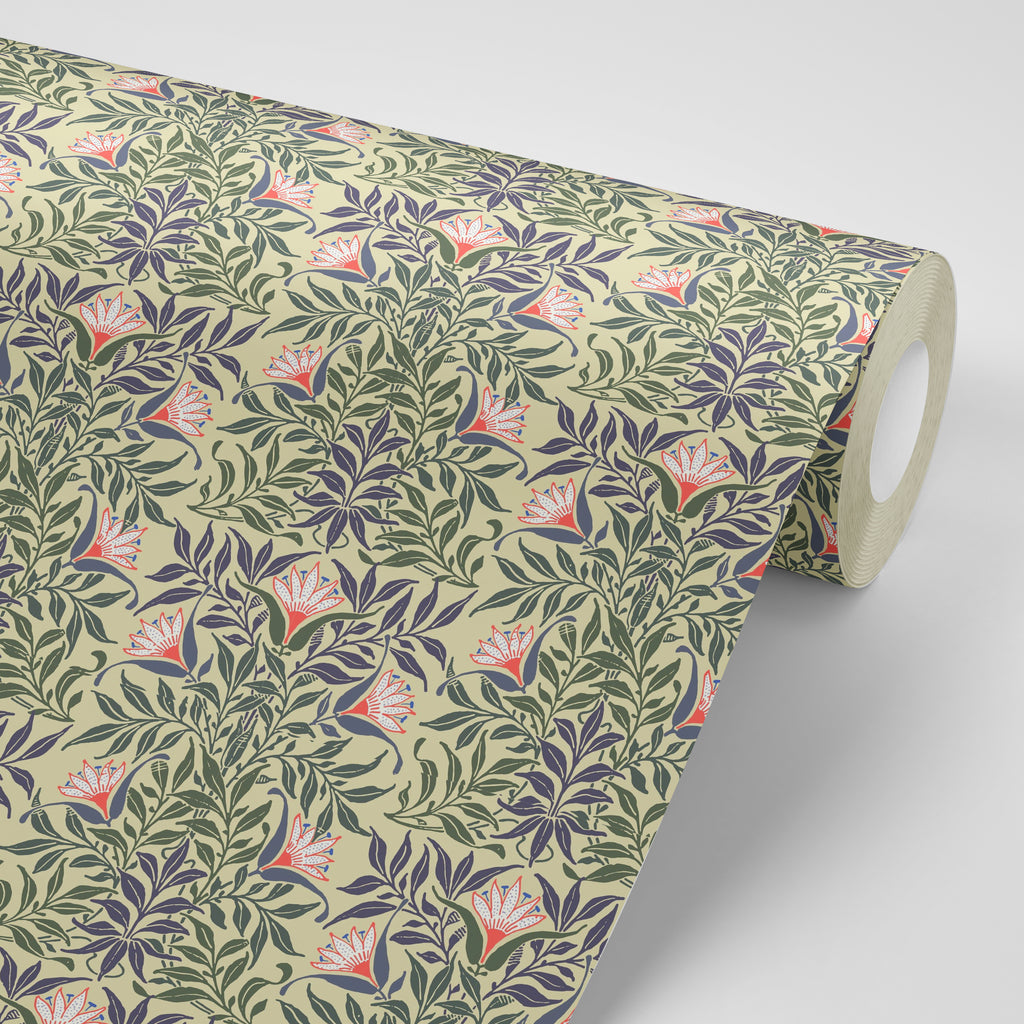 Flowervine - Yellow/Green Wallpaper - MB SIGNATURE