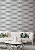 Geometric - Dark Grey Wallpaper - Bohemian Bungalow Collection