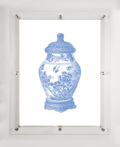 """GINGER JAR"" in PERIWINKLE 18""x24"""