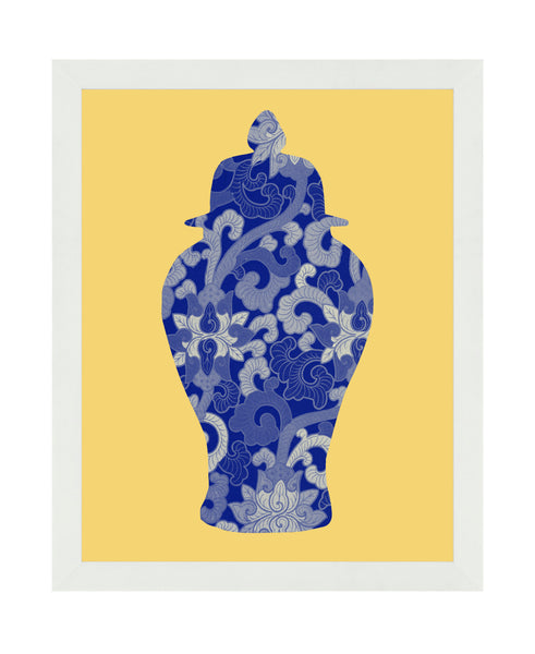 Ginger Jar Silhouette - Framed Art