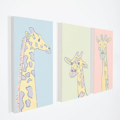 "GIRAFFE BABY - Stretched Canvas 12"" x 30"""