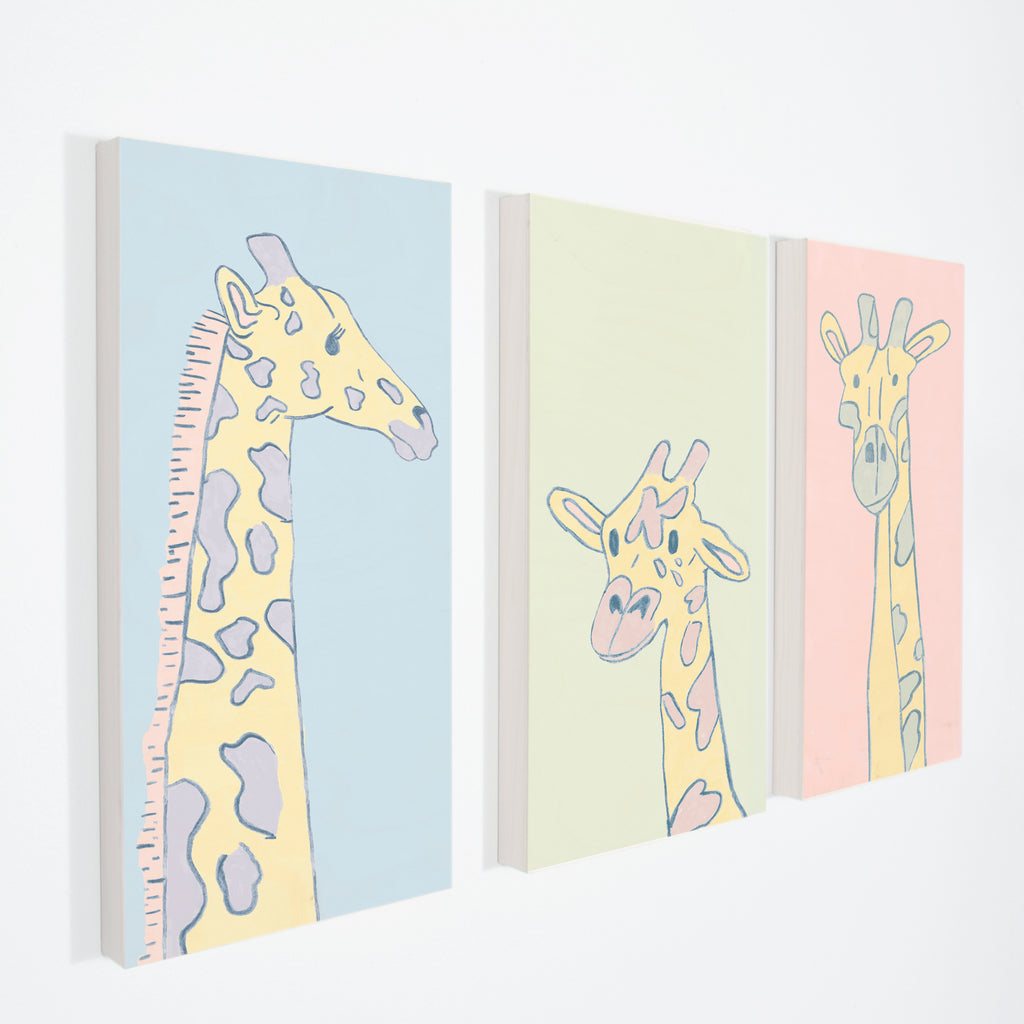 "GIRAFFE MOM - Stretched Canvas 12"" x 30"""