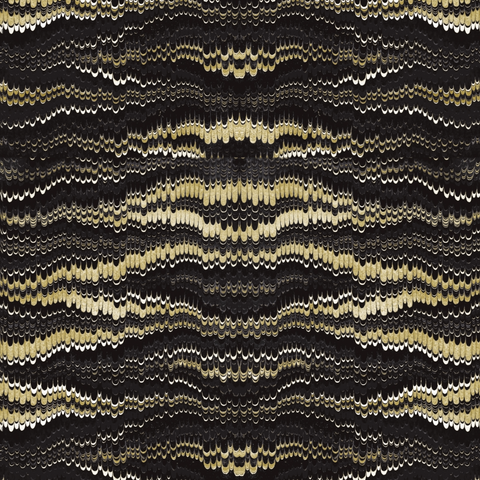 Golden Feather Wallpaper - ABRA 2.018 Collection