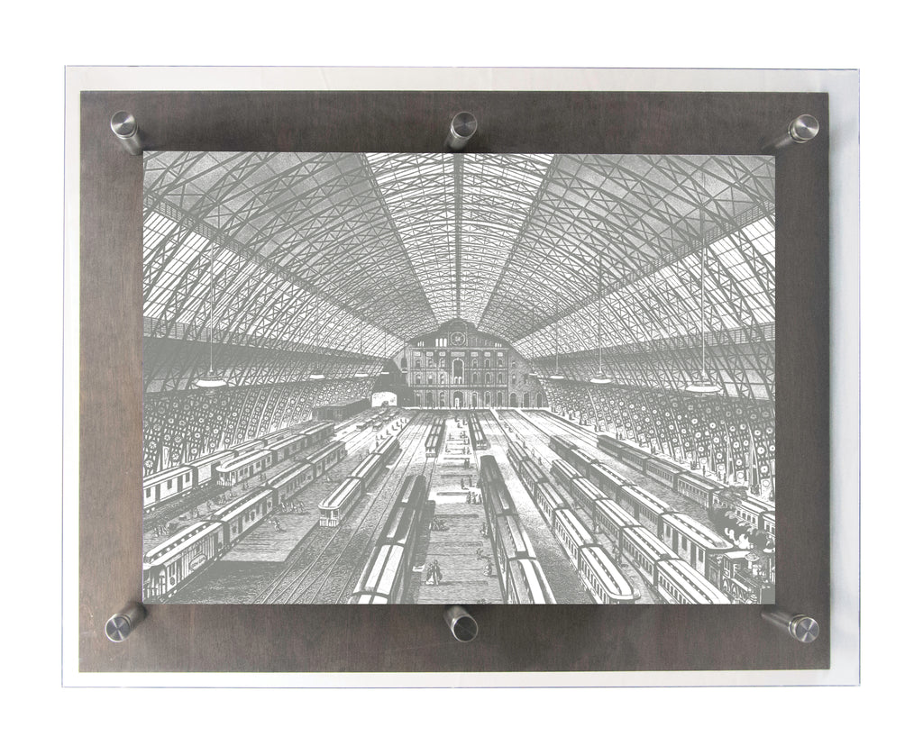 GRAND CENTRAL - Wood & Acrylic Frame