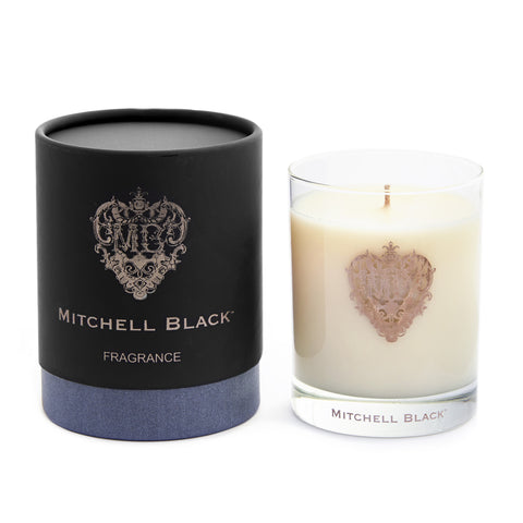 """MITCHELL BLACK"" SCENTED SOY CANDLE"