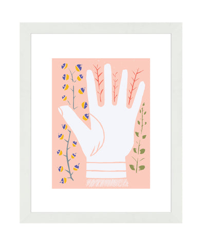 Hand Print Right - Framed Art