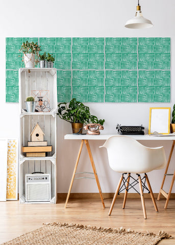 Wall Tile Hatch in Signature Green