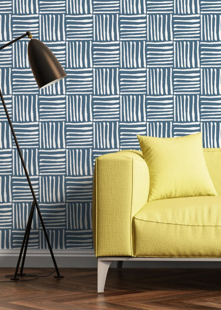 LUCKY Hatch - Coastal Blue Peel & Stick Wallpaper - Nomad Collection