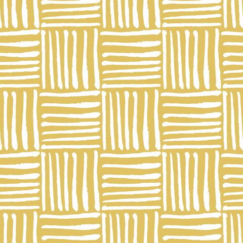 Hatch - Dusty Yellow Wallpaper - Nomad Collection