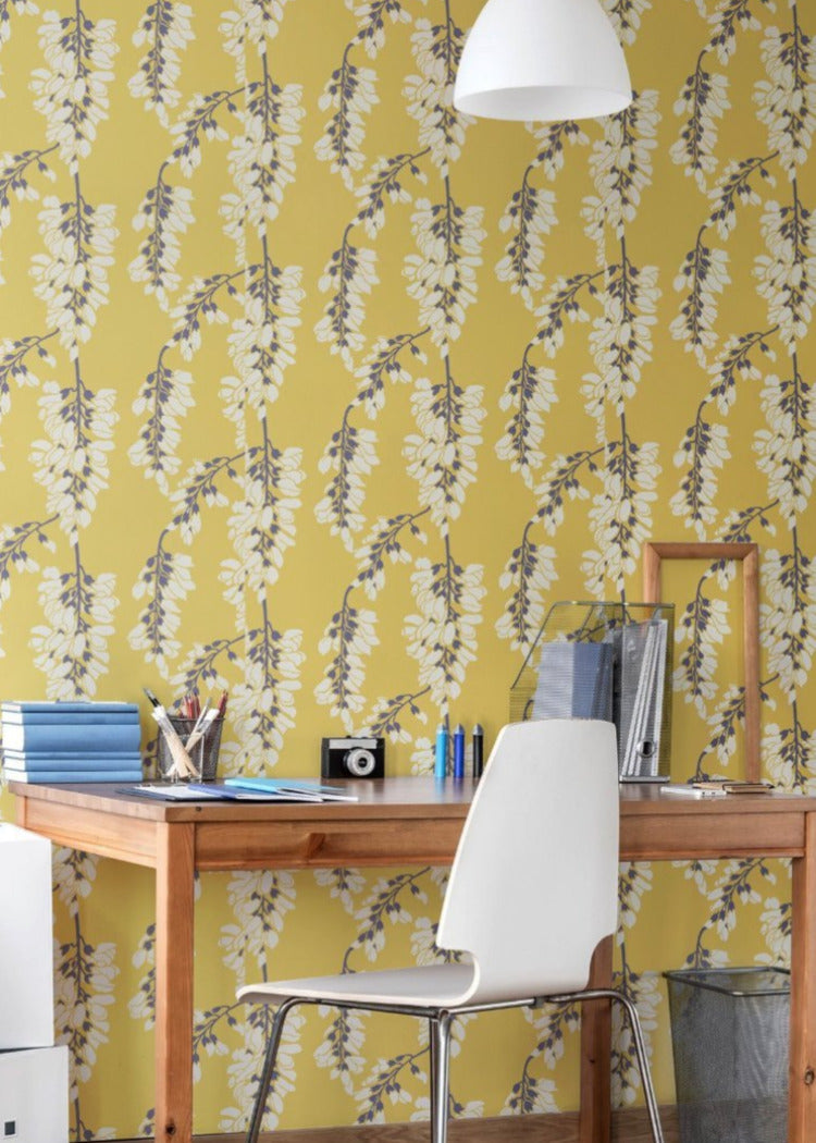 Heart Breaker Dusty Yellow Wallpaper Nomad Collection