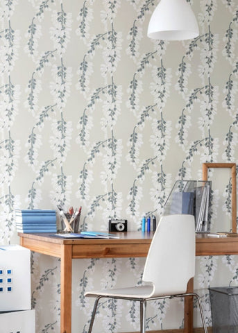 QUICK SHIP Heart Breaker - Linen Pre-Pasted Wallpaper - Nomad Collection