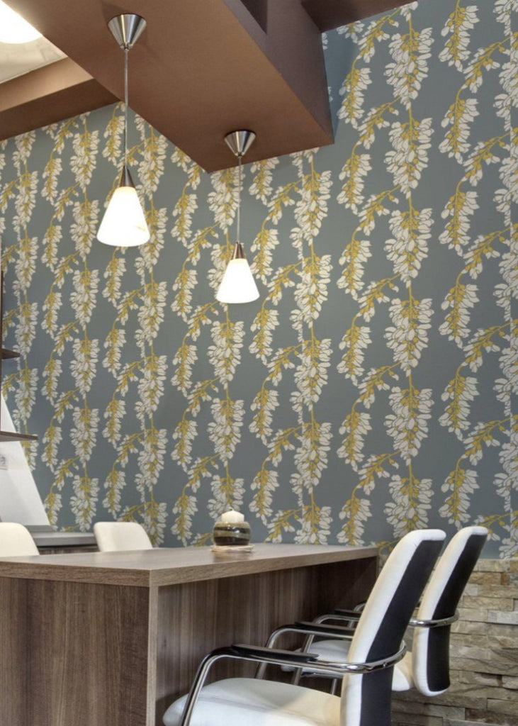 Heart Breaker - Stone Dusty Yellow Wallpaper - Nomad Collection