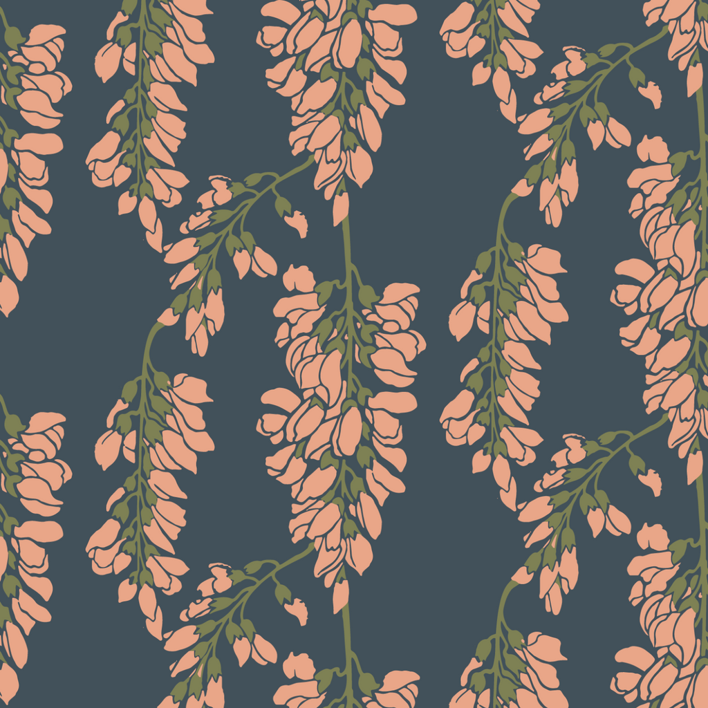 Heart Breaker - Black Moss Wallpaper - Nomad Collection
