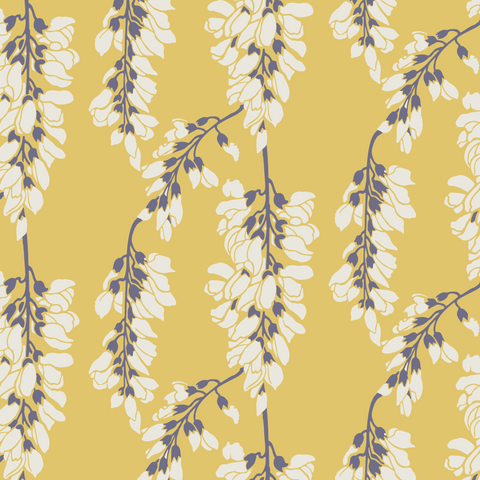 LUCKY Heart Breaker - Dusty Yellow Wallpaper - Nomad Collection