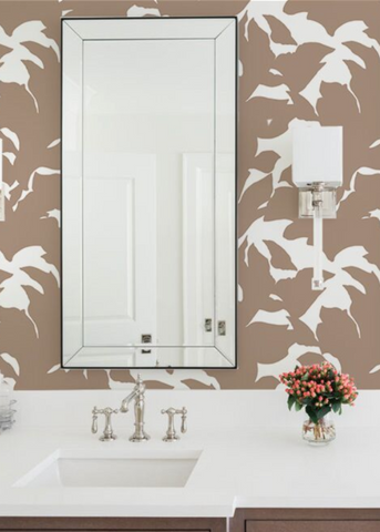 Holly - Truly Taupe Wallpaper - Mrs Paranjape Papers