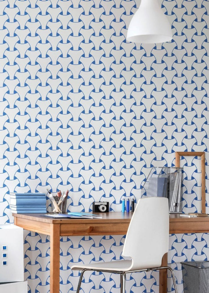 Island Weave - Royal Blue Wallpaper - Art in Chaos