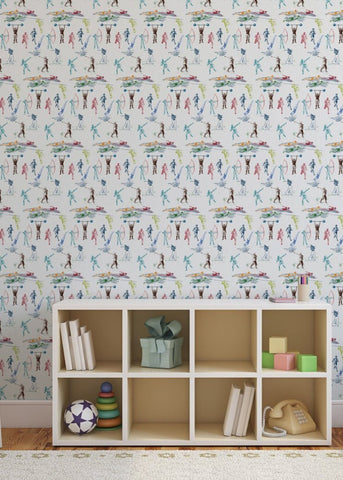 LUCKY Sports Toile Wallpaper - MB BABY