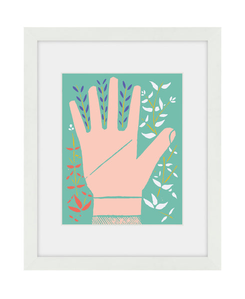 Hand Print Left - Framed Art