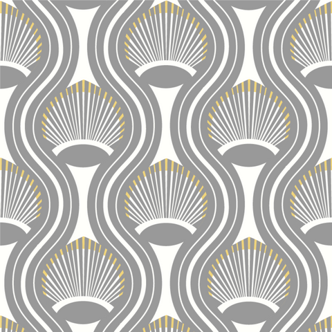 Riviere - Charcoal Wallpaper - JULIANNE TAYLOR STYLE
